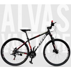 """Bicicleta Montañera ALVAS modelo VANTAGE aro 29"""" talla M (Negro con rojo)"""