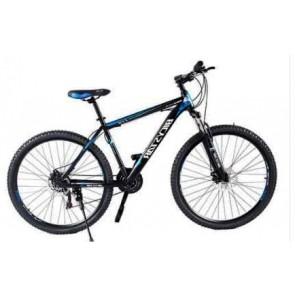 Bicicleta Montañera marca BICYSTAR aro 26'' color Negro con Azul modelo MTB02 (Aluminio)