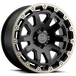 """Juego de aros marca BLACK RHINO  modelo RAZORBACK  matte black/mf - 18""""x9.0"""" - 6x135 - (ET: 12)"""