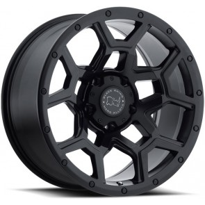 """Juego de aros marca BLACK RHINO  modelo OVERLAND  mbk - 17""""x9.5"""" - 6x139.7 - (ET:06)"""