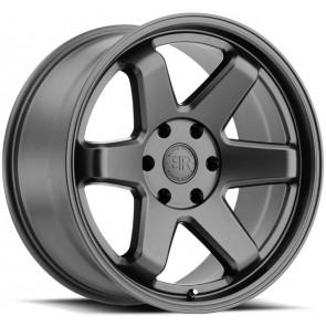 "Juego de aros marca BLACK RHINO  modelo ROKU  gunblack - 17""x9.5"" - 6x139.7 - (ET-18)"