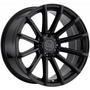 "Juego de aros marca BLACK RHINO  modelo ROTORUA  gloss black - 17""x9.5"" - 6x139.7 - (ET:-12)"
