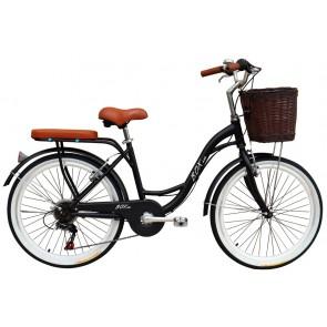 "Bicicleta Pistera marca BOX BIKE  aro 24"" y 26"" (Negro)"