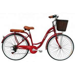 "Bicicleta Pistera marca BOX BIKE  aro 24"" y 26"" (Rojo)"