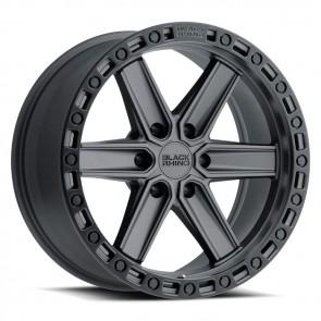 """Juego de aros marca BLACK RHINO  modelo HENDERSON  gb/ble - 17""""x9.0"""" - 6x139.7 - (ET:12)"""