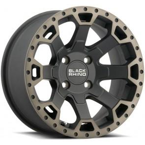 "Juego de aros marca BLACK RHINO  modelo WARLORD  mb/mdtl - 17""x9.0"" - 6x139.7 - (ET:-12)"