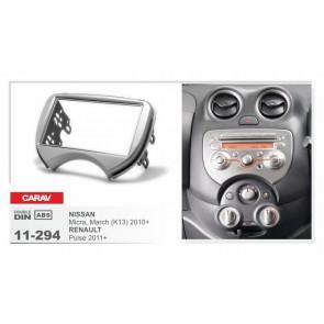 Consola para NISSAN MARCH 2010-2013 marca CARAV modelo 11-294 (2DIN)