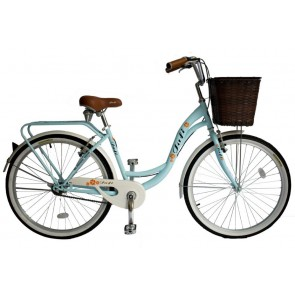 Bicicleta Pistera marca JAFI modelo LADY sin cambios Aro 26 (Celeste)