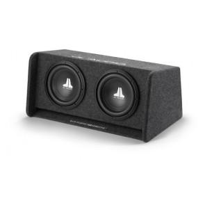 Dos SUBWOOFER 10W0v3 con Caja Acústica Ventilada marca JL AUDIO modelo CP210-W0v3
