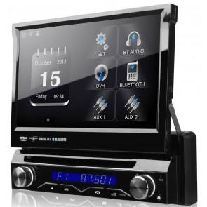 """Autoradio con GPS, DVD, TV, Bluetooth marca XTRON Pantalla táctil motorizada de 7"""" (Importacion 7D) Wince"""
