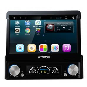 "Autoradio de ultima generacion 1DIN Universal con DVD, pantalla tactil de 7"" procesador de 4 Nucleos, GPS-BT-USB-SD-WIFI-Camara Retro (Importacion 7D) Android 7.1"