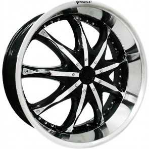 """Juego de aros marca DEMONIUM Wheels  modelo DH-580  blp - 22""""x9.0"""" - 5x139.7 (10h)"""
