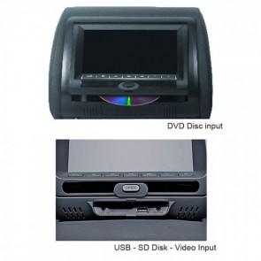 Par de cabeceras con pantalla uno con DVD el otro sin dvd de 7