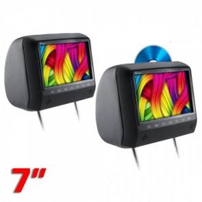 """Par de cabeceras con pantalla uno con DVD el otro sin dvd de 7""""  marca GENIUS modelo GMPC7-11KIT"""