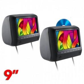 """Par de cabeceras con pantalla uno con DVD el otro sin dvd de 9""""  marca GENIUS modelo GMPC9-12KIT"""