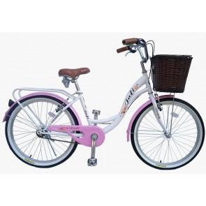 Bicicleta Pistera marca JAFI modelo LADY sin cambios Aro 26 (Gris)