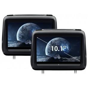 """Combo 2 Cabezales 10.1"""" XTRON con Lector de DVD, PANTALLA TÁCTIL con entrada HDMI, USB, SD, Juegos (IMPORTACION 5D) HD198THD"""