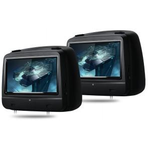 """Combo 2 Cabezales 8"""" XTRONS con Lector de DVD, Pantalla táctil +  Juegos  USB SD (7D importacion) Color NEGRO"""