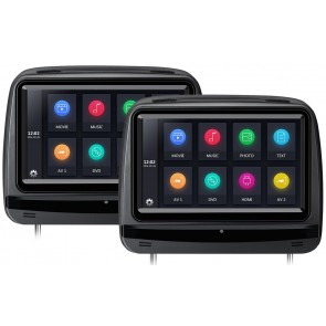 """Combo 2 Cabezales de 9"""" marca XTRONS con Lector de DVD, Pantalla táctil + Juegos +HDMI USB SD color NEGRO (En Stock) HD929THDDB"""