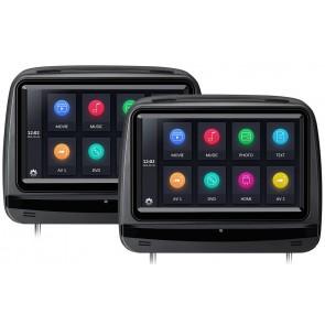"Par de Cabezales de 9"" marca XTRONS con Lector de DVD, Pantalla táctil + Juegos +HDMI USB SD color NEGRO (EN STOCK) HD929THDDB"