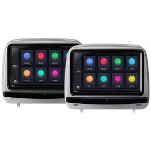 """Combo 2 Cabezales 9"""" XTRON con Lector de DVD, PANTALLA TÁCTIL + Audifonos Inalambricos + Juegos +HDMI,USB,SD (IMPORTACION 7D) Color GRIS"""
