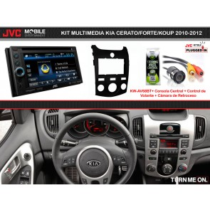 Kit Multimedia Basico JVC MOBILE (KW-AV68BT) KIA CERATO/FORTE/KOUP (2010-2012) A/C Manual