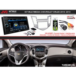 Kit Multimedia Basico JVC-MOBILE (KW-AV68BT) para CHEVROLET CRUZE 2010-2013