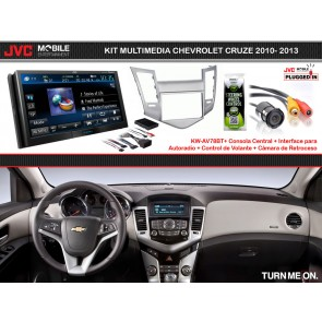 Kit Multimedia Premium JVC-MOBILE (KW-AV78BT) para CHEVROLET CRUZE 2010-2013
