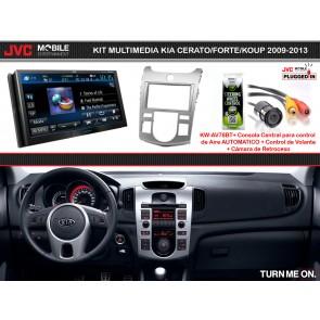 Kit Multimedia Premium JVC MOBILE (KW-AV78BT) KIA CERATO/FORTE/KOUP (09-13) para Control Automatico de A/C