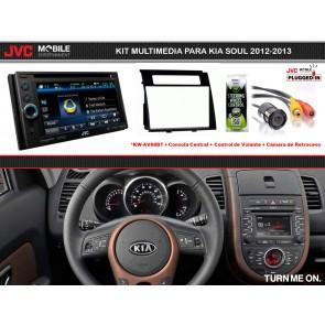 Kit Multimedia Basico JVC MOBILE (KW-AV68BT) para KIA SOUL (2012-2013)