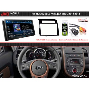 Kit Multimedia Premium JVC MOBILE (KW-AV78BT) para KIA SOUL 2012-2013