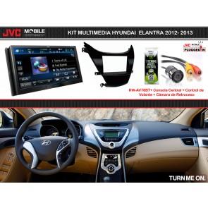 Kit Multimedia Premium JVC-MOBILE (KW-AV78BT) para HYUNDAI ELANTRA 2012-2013