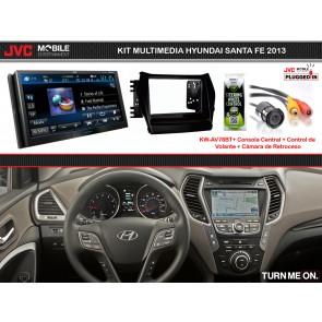 Kit Multimedia Premium JVC-MOBILE (KW-AV78BT) para HYUNDAI SANTA FE 2013