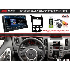 Kit Multimedia Premium JVC MOBILE (KW-AV78BT) KIA CERATO/FORTE/KOUP (2010-2012) A/C Manual
