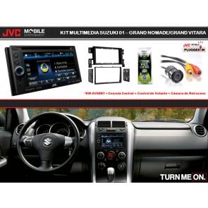 Kit Basico Multimedia JVC-MOBILE (KW-AV68BT) para Suzuki Gran Nomade / Gran Vitara