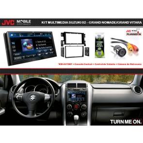 Kit Premium Multimedia JVC-MOBILE (KW-AV78BT) para Suzuki Gran Nomade / Gran Vitara