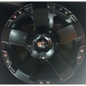"Juego de aros marca KMC WHEELS  modelo ROCKSTAR  black - 17"" - 5x120"