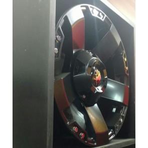 Juego de aros marca KMC WHEELS  modelo ROCKSTAR  black - 17