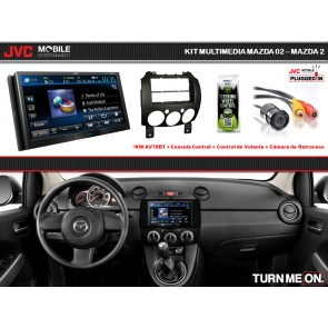Kit Premium JVC-MOBILE (KW-AV78BT) para Mazda 2 (07-Up)