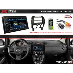 Kit Basico Multimedia JVC-MOBILE (KW-AV68BT) para Mazda 2 (07-Up)