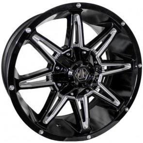 "Juego de aros marca MAYHEM Wheels  modelo MM-8090-2937  bmille - 20""x9.0"" - 12H (6x139.7)"