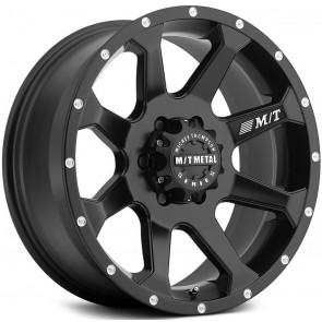 "Juego de aros marca MICKEY THOMPSON  modelo MM-366  Matte Black - 18""x9.0"" - 8x165.1 (6.5"")"