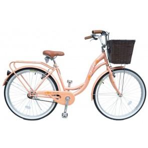 Bicicleta Pistera marca JAFI modelo LADY sin cambios Aro 26 (Naranja)