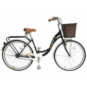 Bicicleta Pistera marca JAFI modelo LADY sin cambios Aro 26 (Negro)