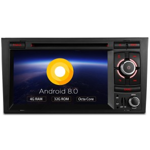 Autoradio homologado para AUDI A4/S4/RS4 2002-08 pantalla Tactil 7