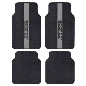 Pisos de latex marca SPARCO  color negro con plomo
