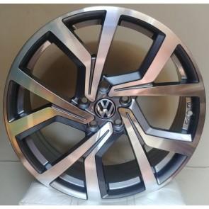 """Juego de aros HP Wheels  modelo NEW GTI  673  hs - Réplica - 18""""x8.0"""" - 5x112 - PCR/SUV"""