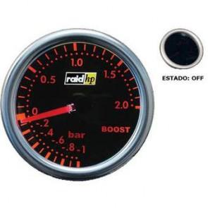 Reloj de presion de turbo stri rojo ambar