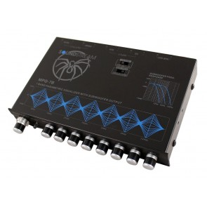 ECUALIZADOR (Pre Amplificador) de 4 bandas  marca SOUNDSTREAM  modelos MPQ-7XO
