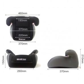 Alzador marca SPARCO modelo F100K (NEGRO/GRIS)